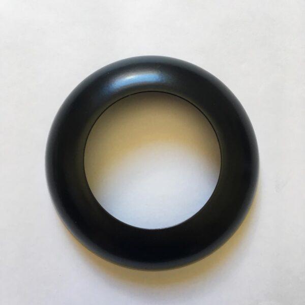 Canopla de polegadas preta